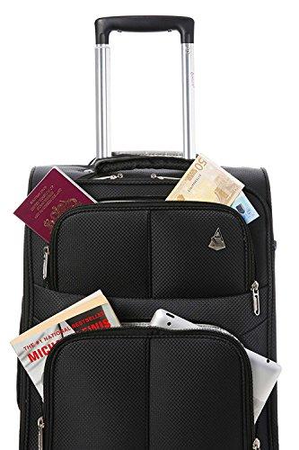 Aerolite Weichschalenkoffer Außentaschen
