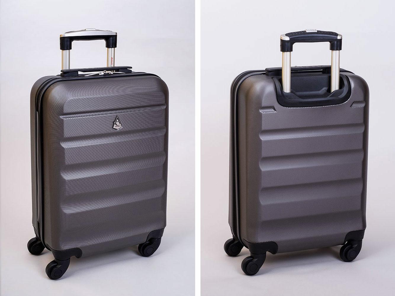 Aerolite Koffer Kohlegrau