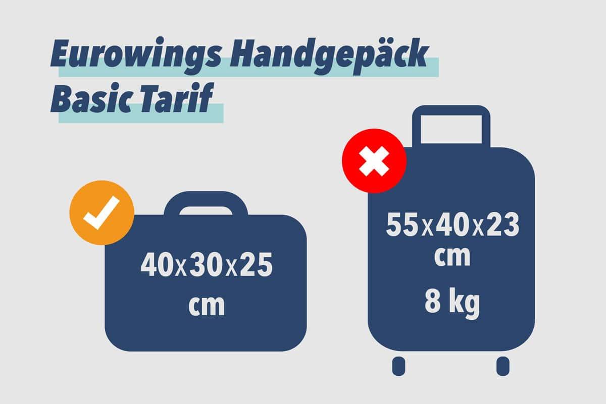 Eurowings Handgepäck Basic Tarif