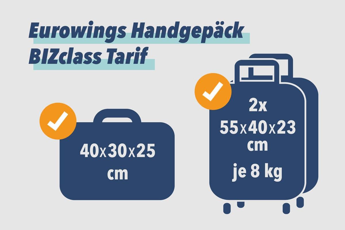 Eurowings Handgepäck BIZclass