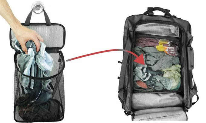 Nomatic Laundry Bag aufgehängt