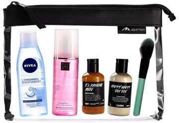 Alpamayo Kulturbeutel transparente für Flüssigkeiten im Handgepäck mit Kosmetik
