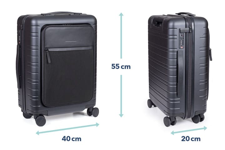 55x40x20 - Die perfekte Größe für Handgepäck Koffer