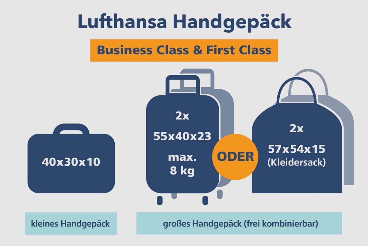 Lufthansa Handgepäck Business Class & First Class