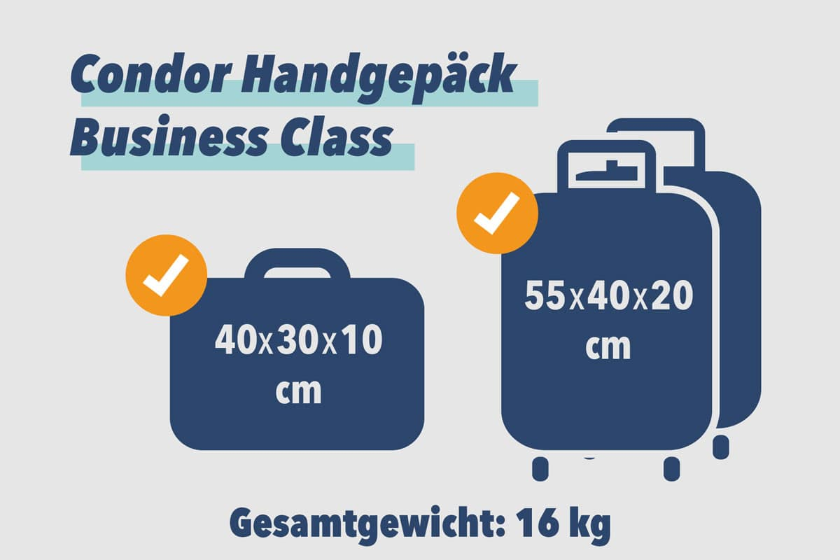 Condor Handgepäck Business Class