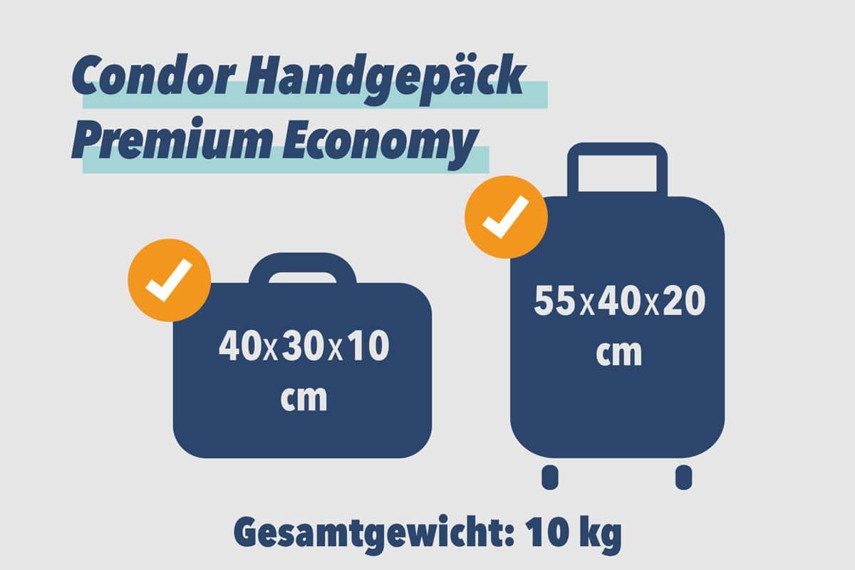 Condor Handgepäck Premium Economy
