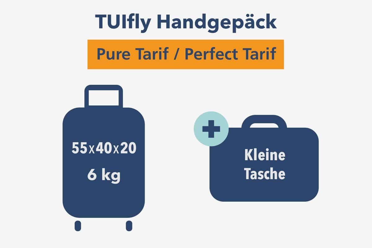 TUIfly Handgepäck Maße und Gewicht